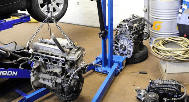 Замена двигателей на донорский в автоцентре Виста